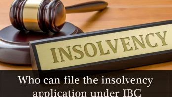 Who Can File the Insolvency Application under IBC