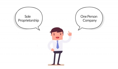 How is One Person Company different from Sole Proprietorship?