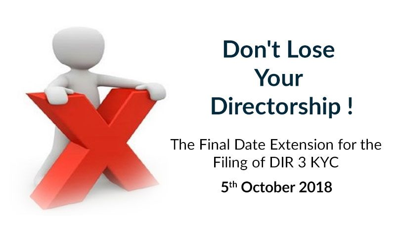 The Final Date Extension for the Filing of DIR 3 KYC