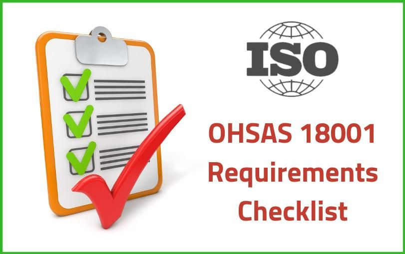 OHSAS 18001 Requirements Checklist