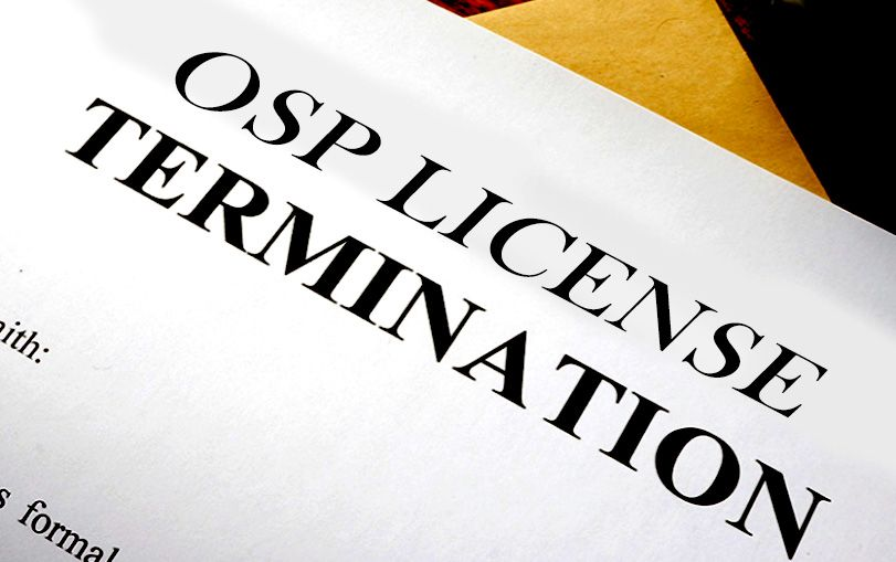 What Situations Can Lead to the Termination of OSP Registration?