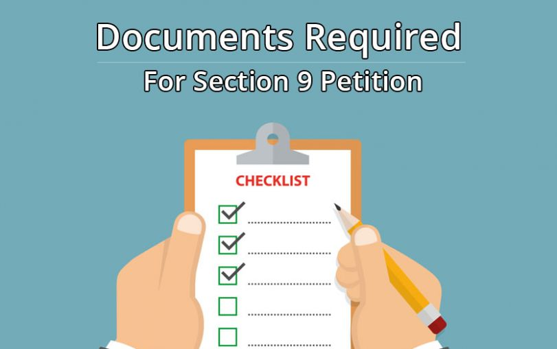 List of Documents Required For Section 9 Petition