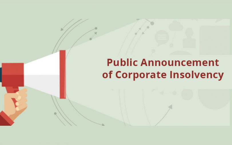 Public Announcement of Corporate Insolvency