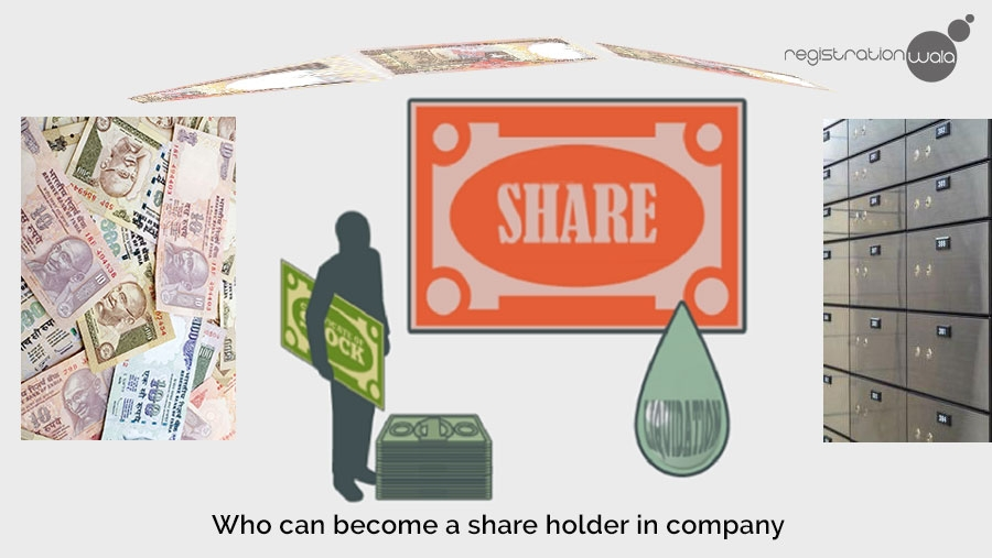 Who can become shareholders in private limited company