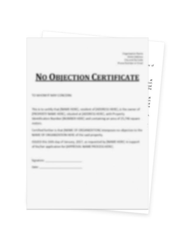 Create free online noc certificate format for private limited company no objection certificate thecheapjerseys Choice Image